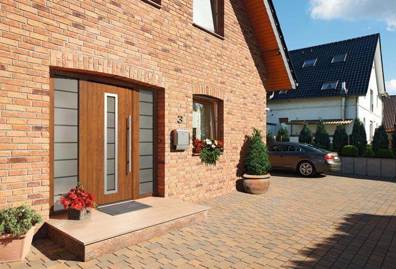 Hörmann Außentür Thermo65 Golden_Oak Haustüren, Stahl-Eingangstüren